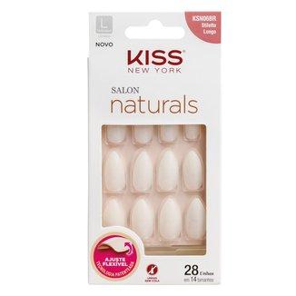 Unhas Postiças Kiss NY  Salon Natural Longo Estileto 1 Un