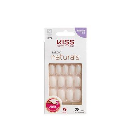 Unhas Postiças Naturais Kiss New York Salon Natural Medio Oval
