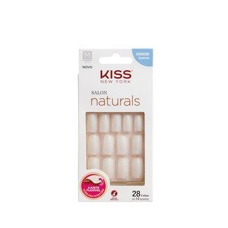 Unhas Postiças Naturais Kiss New York Salon Natural Médio Quadrado