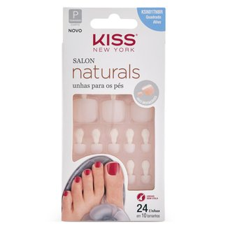 Unhas Postiças para Pés Kiss NY - Salon Naturals 1 Un