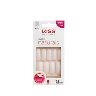 Unhas Potiças Kiss New York Salon Natural Longo Quadrado