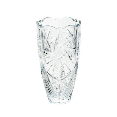 Vaso de Vidro Sodo-Cálcico com Titanio Bojudo Pinwheel Luxo 30cm