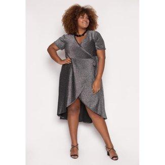 Vestido Almaria Plus Size Alt Brand Wrap Glow Feminino
