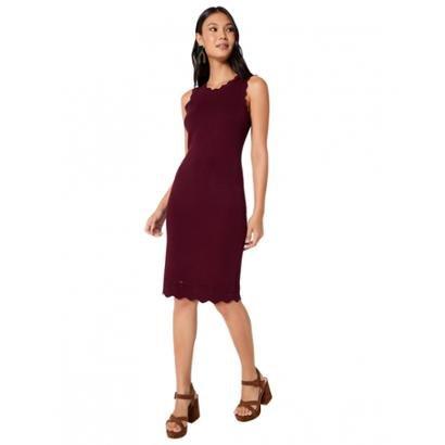 9dd6db0bcd Vestido Amaro Básico Sem Mangas - Vermelho Escuro - Compre Agora ...
