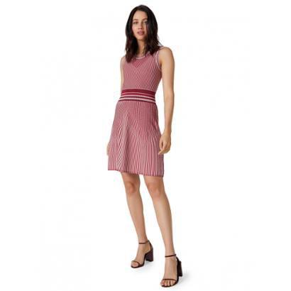 Vestido Amaro Curto Tricot Rodado-Feminino