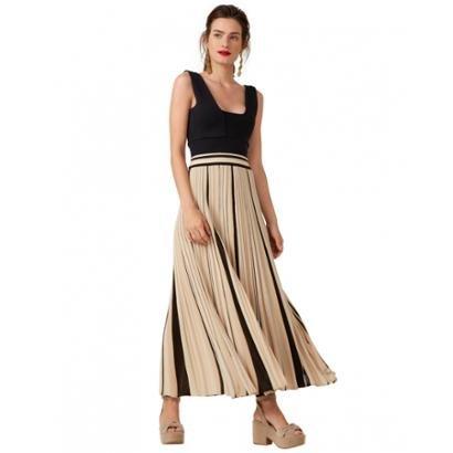 Vestido Amaro Saia Plissada Feminino-Feminino