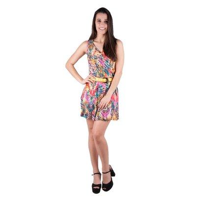 Vestido Banna Hanna Visco Estampado Gota Aberta - Feminino