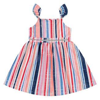 Vestido Bebê Fakini Listrado Com Glitter