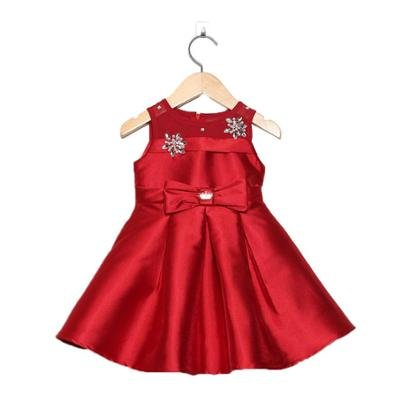 Vestido Bebê Gira Bordados Strass Feminino-Feminino