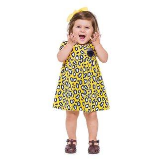 Vestido Bebê Kyly Curto Onça