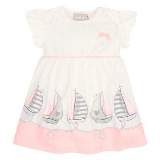 Vestido Bebê Milon Barquinhos + Body Interno