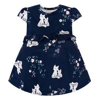 Vestido Bebê Milon Com Body Interno E Babado Cat