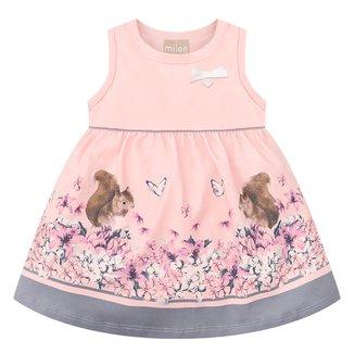 Vestido Bebê Milon Com Body Interno Floral