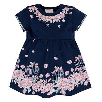Vestido Bebê Milon Cotton Com Body Interno Floral