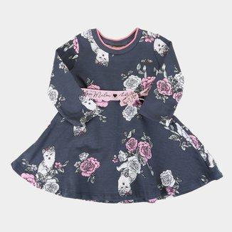 Vestido Bebê Milon Estampado Manga Longa