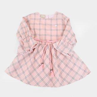 Vestido Bebê Milon Tricoline Sarjado