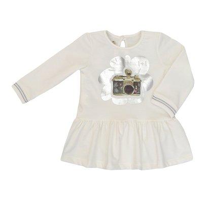 Vestido Bebê Moletinho Manga Longa Máquina Fotografica