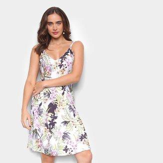 Vestido Briard Curto Alça Dupla Floral