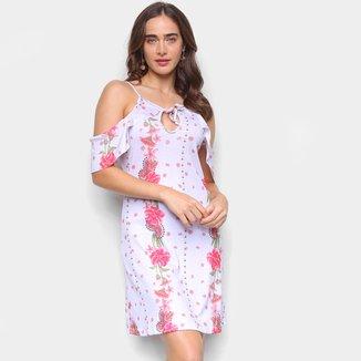 Vestido Briard Curto Ciganinha Floral