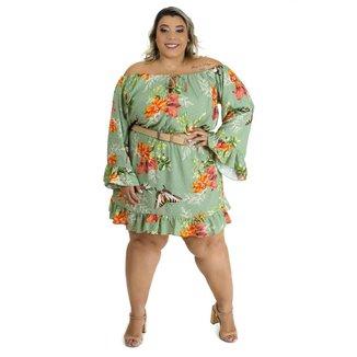 Vestido Brio Plus Size Curto Glamour Feminino