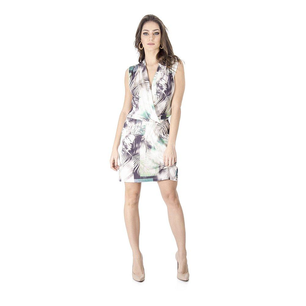 Vestido Cache Coeur Estampado Calvin Klein - Off White - Compre ... 1ce39baf79