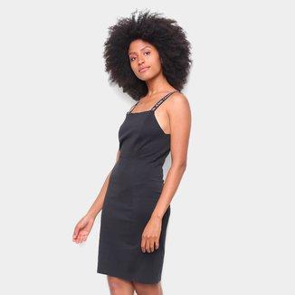 Vestido Calvin Klein Curto Liso Alça Logo