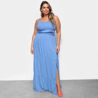 Vestido Cambos Plus Size Longo