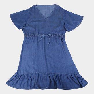 Vestido Cambos Plus Size Soltinho Com Decote Em V