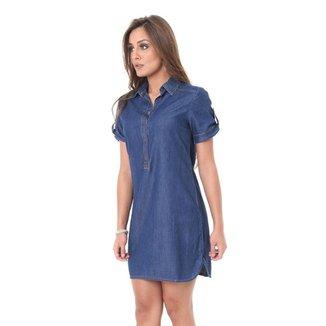 Vestido Chemise Jeans Delave Feminino Miss Joy 2942