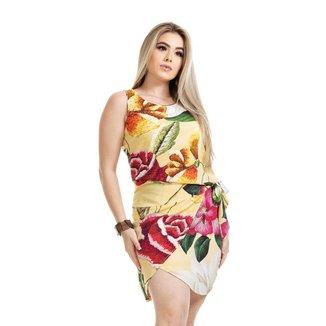 Vestido Clara Arruda Estampado Transpasse Feminino