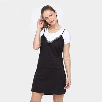 Vestido Colcci Curto Sleep Dress Sobreposto