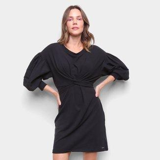 Vestido Colcci Manga Bufante