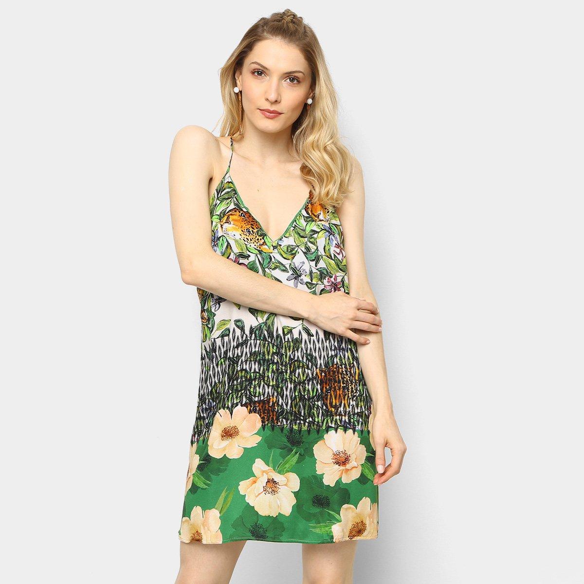Vestido colcci floral verde