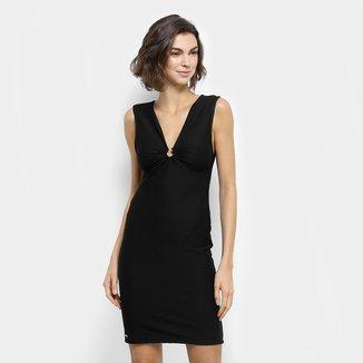 Vestido Colcci Texturizado com Fivela Metálica