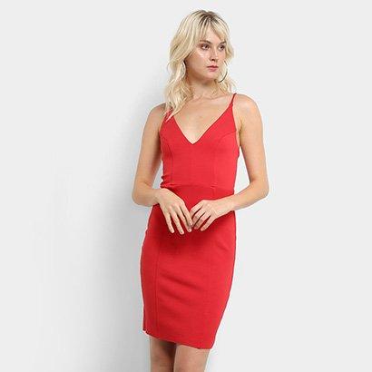 df1356d26 Vestido Colcci Tubinho Curto Decote Alças-Feminino