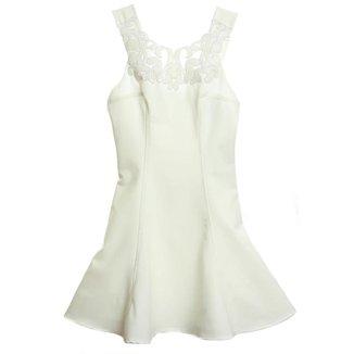 Vestido Com Pala De Couro - Authoria