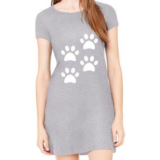 Vestido Criativa Urbana Estampado 4 Quatro Patas Dog Pets