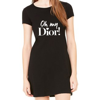 Vestido Criativa Urbana Estampado Oh My Dior