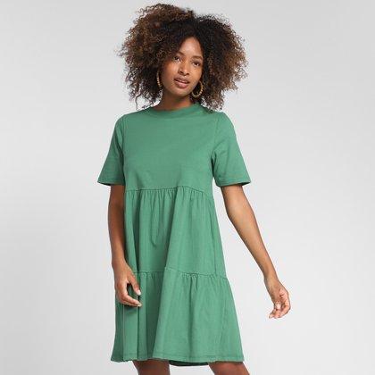 Vestido Curto Farm Camadas Feminino