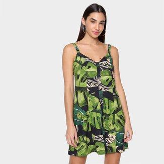 Vestido Curto Farm Folhagem Fresca Feminino