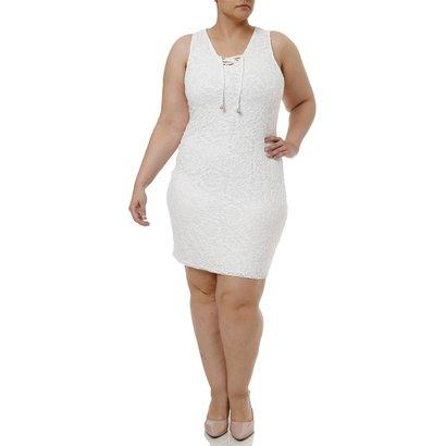 Vestido Curto Plus Size Feminino-Feminino