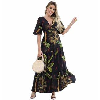 Vestido D Bell Longo Florido Feminino
