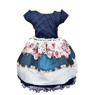 Vestido de Festa Infantil Floral Feminino