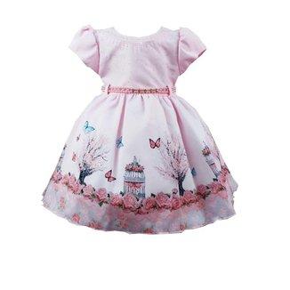 Vestido de Festa Infantil Temático Jardim Encantado Feminino