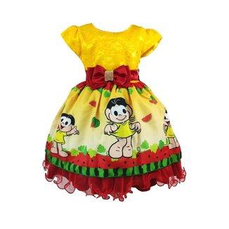 Vestido de Festa Infantil Temático Magali Luxo Feminino