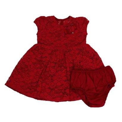 Vestido e Calcinha 1+1 de Renda Vermelho