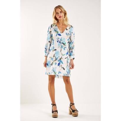 Vestido Est Inside Blue Sacada Feminino