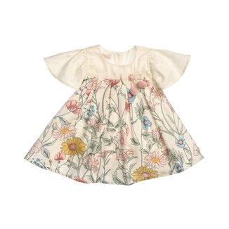 Vestido Estampado Flores Naturais Para Bebê - Anjos Baby Feminino