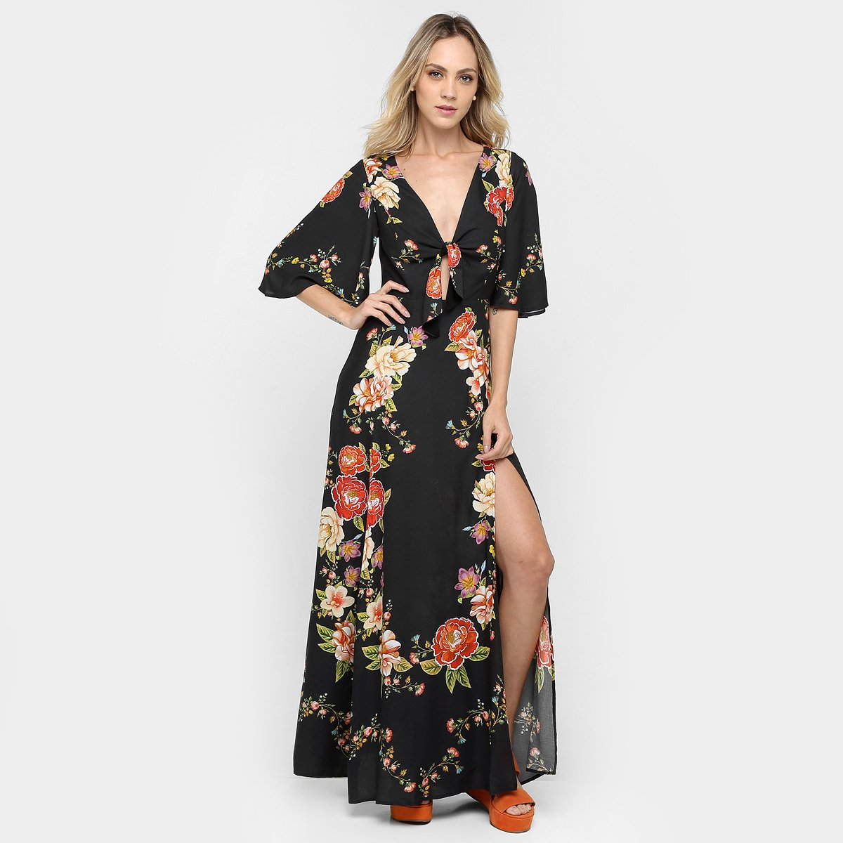 Vestido sommer longo com fenda