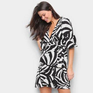 Vestido Farm Savana Curto Amarração Feminino